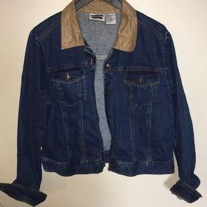 Jackets & Blazers - VINTAGE SUEDE AND DENIM JACKET